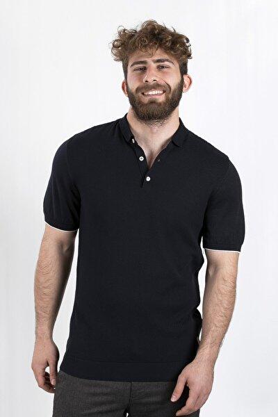 Erkek Siyah Polo Yaka T-shırt, ag503509