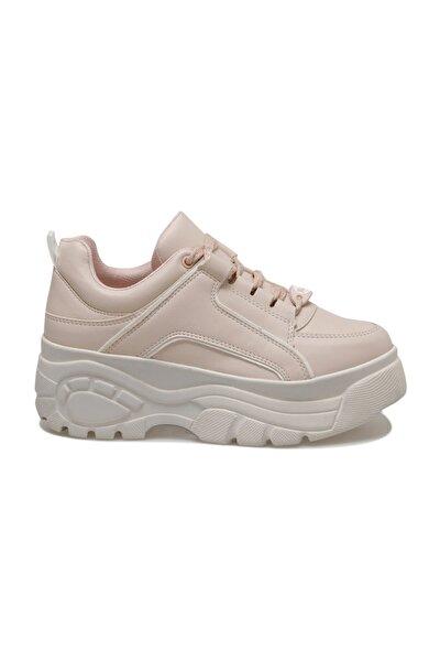 20S-498 Pudra Kadın Kalın Taban Sneaker Spor Ayakkabı 100517477
