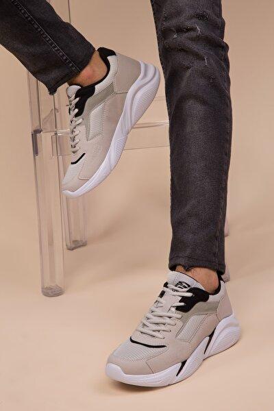 Buz-Siyah Erkek Sneaker 3011