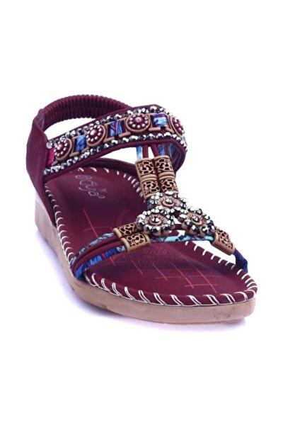 Bordo Kadın Sandalet 20Y150-10