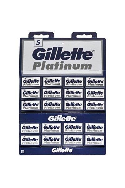 Platinum Tıraş Bıçağı Çift Kenarlı Jilet 5x20'li (100'lü) Kartela