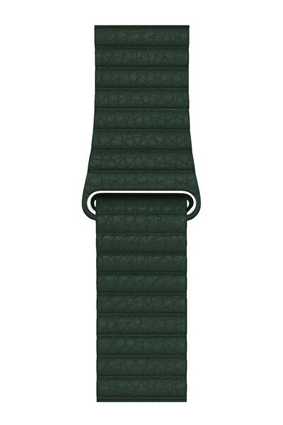 Apple Watch Deri Loop Kordon 44 Mm Kayış Yeşil
