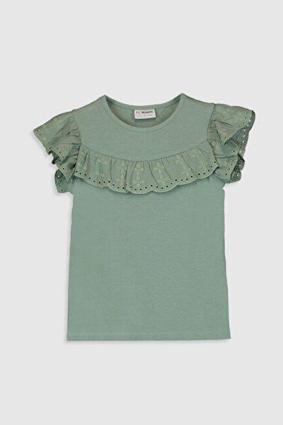 Kız Çocuk Mat Yeşil Gx7 T-Shirt