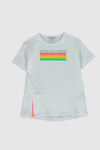 Kız Çocuk Optik Beyaz E5X T-Shirt