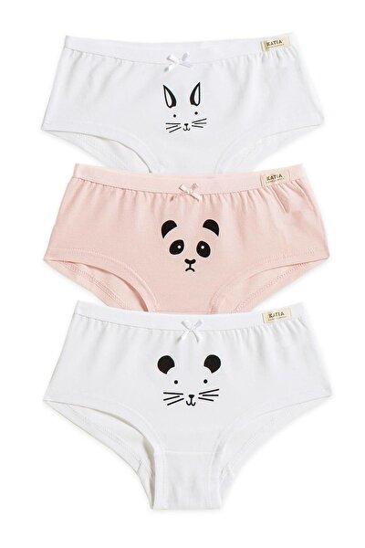 Katia&Bony Cuttie 3'lü Basic Kız Çocuk Hipster - Beyaz/Pembe/Beyaz