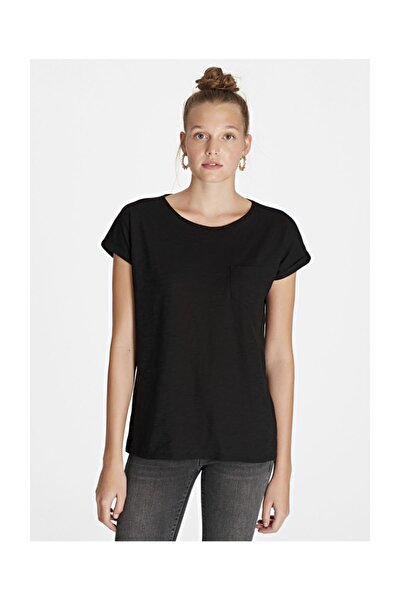 Cepli Siyah Basic Tişört
