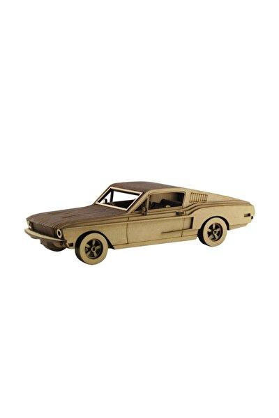 3d Ahşap Ford Mustang 1968 Maketi 97 Parça