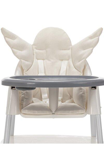 Angel Wings Çok Amaçlı Mama Sandalyesi Minderi - Ekru