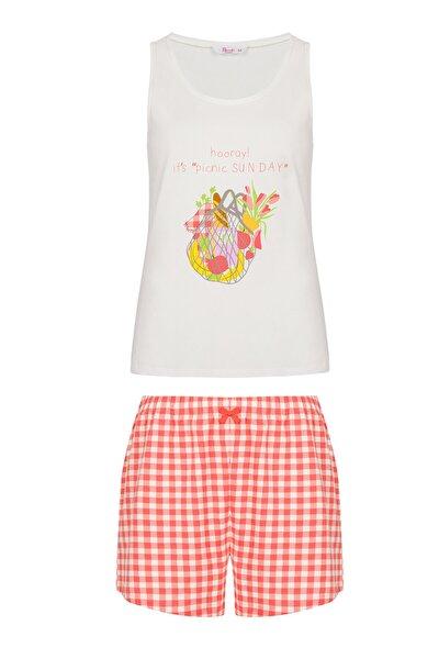 Kadın Çok Renkli Picnic Pijama Takımı