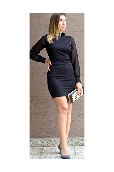 Sırt Detaylı Mini Elbise