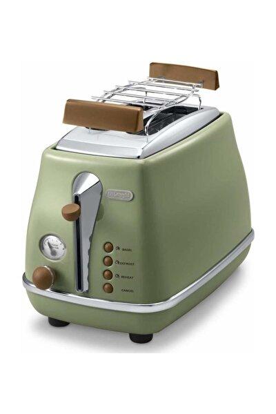 Delonghi CTOV 2103.GR Icona Vintage Yeşil Ekmek Kızartma Makinesi