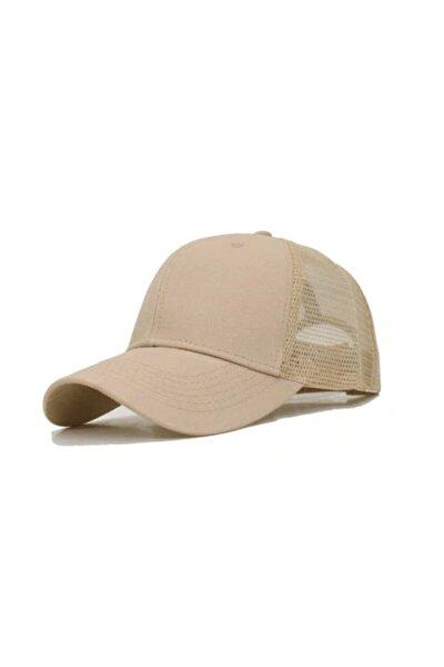 Yazlık Örme Fileli Düz Renk Arkası Ayaralanabilir Şapka Kepler