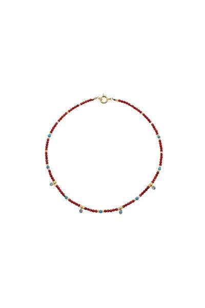 Lısbon - Kırmızı Mercan Kolye