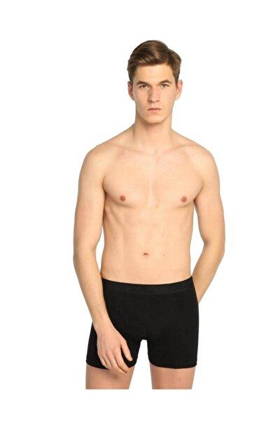 Erkek Elastan (likralı) Esnek Boxer 6'lı Paket (siyah)