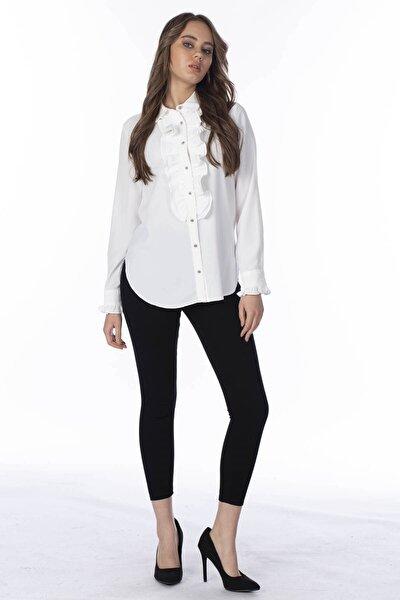 Kadın Siyah Yüksek Bel Pantolon 397-20Y04003.91
