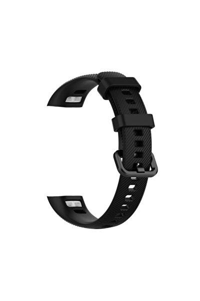 Huawei Honor Band 4 Silikon Akıllı Bileklik Kayışı Kordonu -Siyah