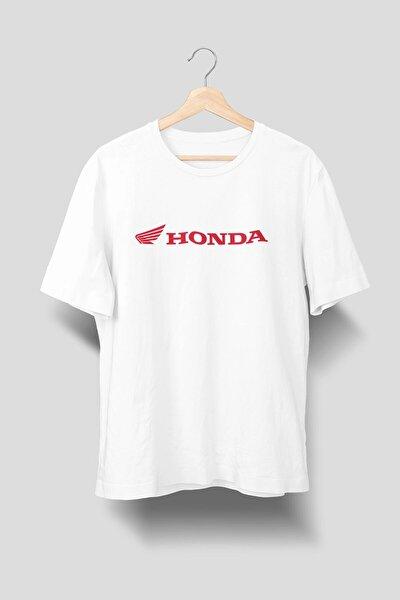 Honda Logolu Baskılı Tişört