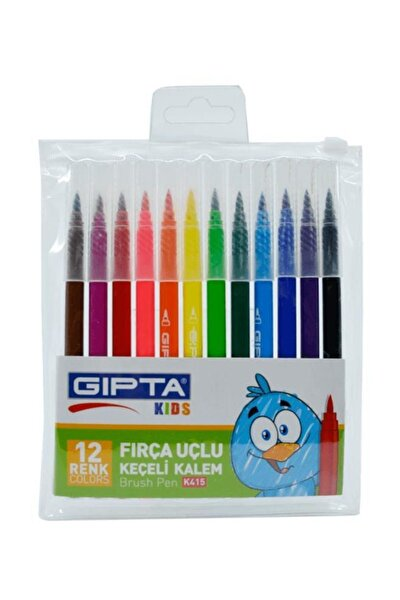 Fırça Uçlu Keçeli Kalem 12'li
