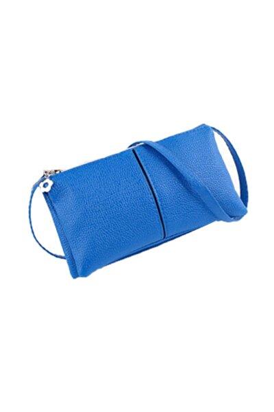 Kadın Mavi Askılı Clutch Çanta