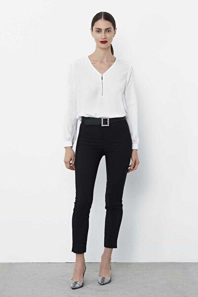 Kadın Siyah Yüksek Bel Pantolon IW6190003113001