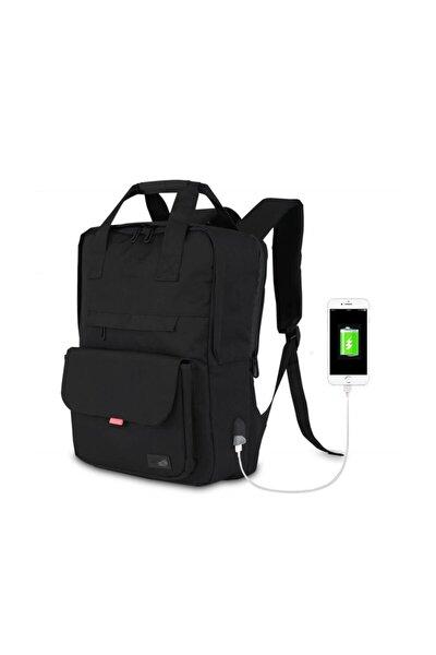 Smart Bag Usb Şarj Girişli Akıllı Sırt Çantası 1205 Siyah