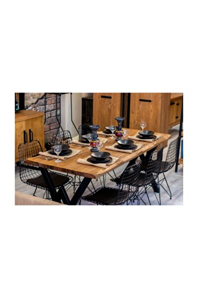 Ntconcept Masif Ağaç Yemek Masası - 85cm-200cm Masa