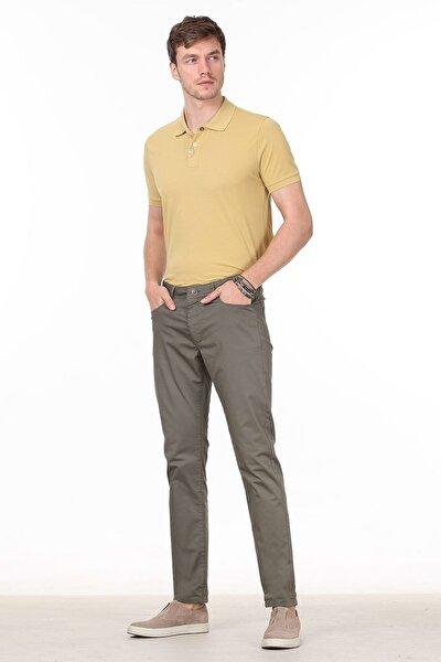 Erkek Haki Düz Dokuma Pantolon RP10120058