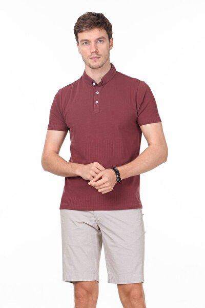 Erkek Gül Kurusu Jakarlı Örme T - Shirt RP10119895