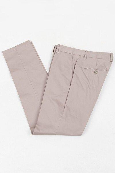 Erkek Bej Düz Dokuma Pantolon RP10117883