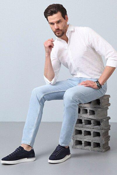 Erkek Lacivert Düz Denim Pantolon RP10119921