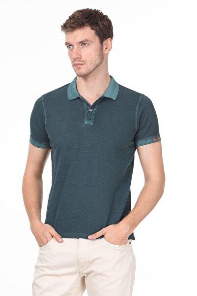 Erkek Yeşil Düz Örme T - Shirt RP10120144