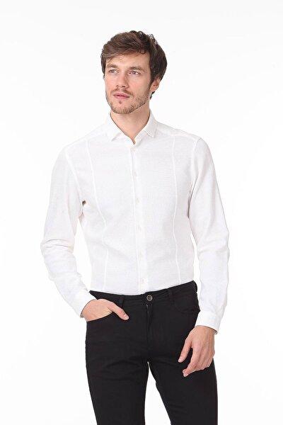 Düz Dokuma Uzun Kollu Gömlek