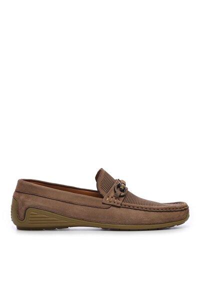 Hakiki Deri Bej Erkek Loafer Ayakkabı 374 6047 ERK AYK