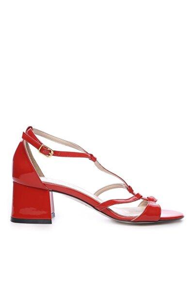 Hakiki Deri Kırmızı Kadın Topuklu Ayakkabı 94 975 BN AYK