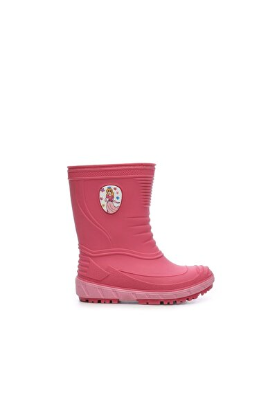Kız Çocuk Pembe Hakiki Deri  Deri Yağmur Çizmesi Çizme 104 TURBO UNI CZM 24-32