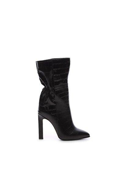 Hakiki Deri Siyah Kadın Çizme Çizme 299 4807 K02 BN CZM SK20