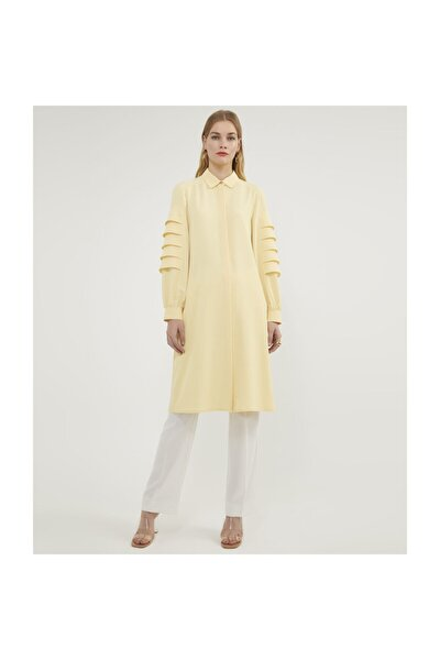 Kolları Katlı Sarı Tunik V154210123