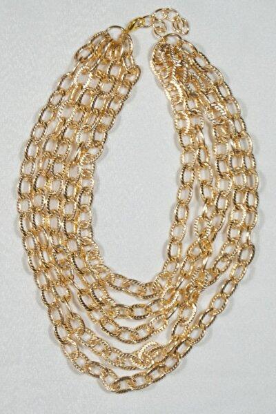 Dolu Dolu Gold Zincir Kolye
