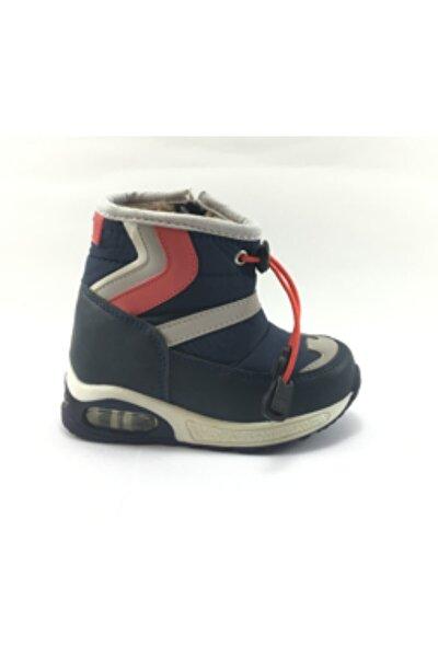 Erkek Çocuk Fermuarlı Lacivert Kar Bot Ayakkabı