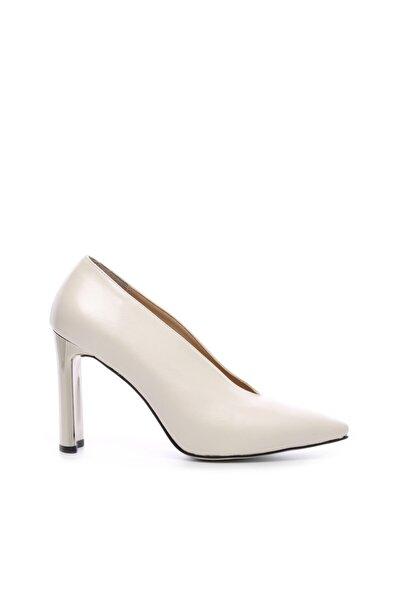 Kadın Beyaz  Vegan Stiletto Ayakkabı 22 6428 Bn Ayk Sk19-20