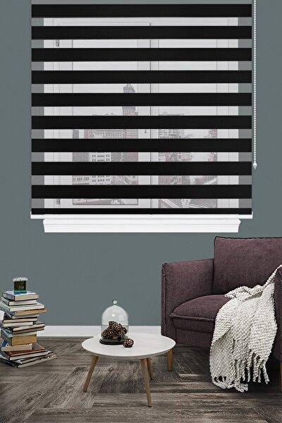 Siyah Bambu Zebra Perde 125v09 Eteksiz