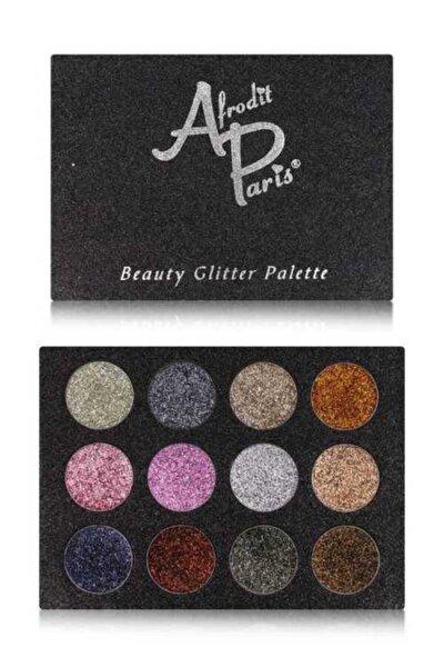 Afrodit Paris 12'li Glitter Far Paleti