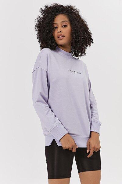 Kadın Dik Yaka Örme Sweatshirt Y20w189-9002