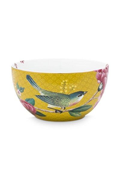 Blushing Birds Sarı Kase 12 Cm