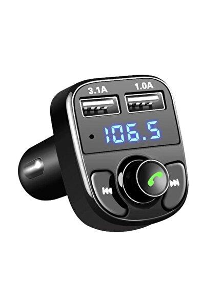 Carx8 Fm Transmitter Bluetooth Araç Kiti 4.0 Micro Sd Usb Şarj