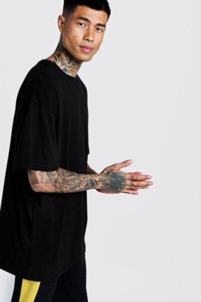 Oversize Siyah Basic Tshirt