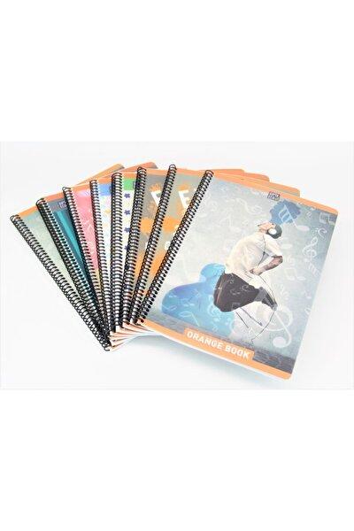 Orange Book Spiralli Plastik Kapak A4 Defter 60 Yaprak Çizgili