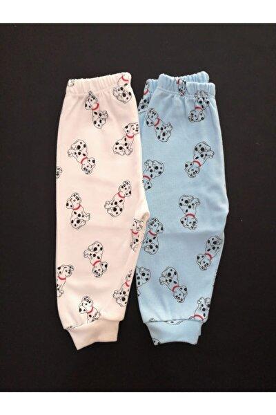 Unisex Bebek 2 Adet Pamuklu Tek Alt Pijama Takımı