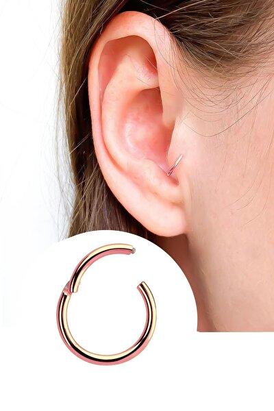 Titanyum Rose Renk Halka Tragus Helix Piercing (8mm orta boy)