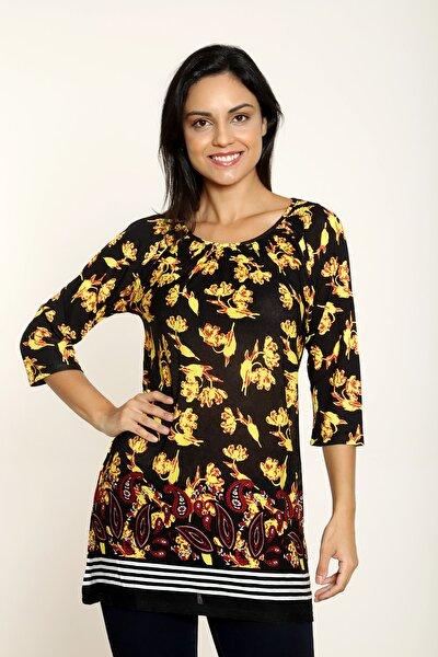 Mari Sarı Çiçek Gipe Bluz